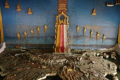 Mahamuni Buddha Temple Golden Mandalay Myanmar Burma royalty free stock images