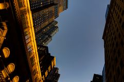 New York Skyscraper Skyline View Megacity Twilight. Photo taken in New York USA, August 2017: New York New York Skyscraper Skyline View Megacity Twilight Stock Images