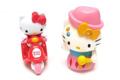 A pair of Hello Kitty figurines Stock Image