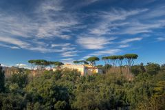 Park Borghese. Photo taken from Park Borghese in Rome, Italy stock photos