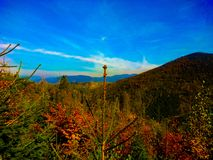 Colorful landscape whith the beuthiful blue sky royalty free stock photos