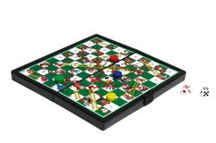 A game of Snakes and Ladders Stock Image