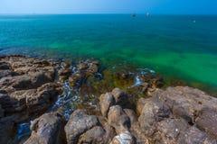 Rocky beach. Lanta. stock photo