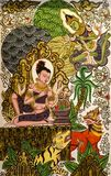 Art painting in pugan,myanmar. The photo is taken in pugan,myanmar royalty free stock image