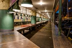 Empty Pike Public Market in Seattle Washington United States of. Photo taken in Seattle United States of America Stock Image