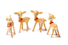 Deers. A photo taken on some deer replicas against a white backdrop Royalty Free Stock Images