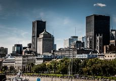 Look of the Old Port of Montreal. Photo taken in the summer of 2011, Montreal, Quebec, Canada. In summer it is a place very popular with tourists royalty free stock photo