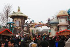 Temple Fair Stock Photo