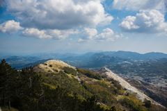 View from Lovcen in Montenegro stock photography