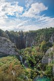 Beautiful National Park in Croatia, Plitvice Lakes royalty free stock photography