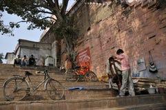 Cycle and saloon at varanasi