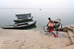 CYCLE SERVicing at varanasi ghat