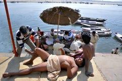 Morning massage at varanasi uttar pradesh india