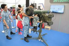 Visitors to the Singapore RSAF open house Royalty Free Stock Image