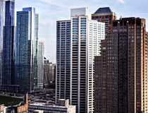 Photo of tall buildings. Chicago Stock Photo