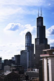Photo of tall buildings from South Loop in Chicago Royalty Free Stock Images