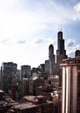 Photo of tall buildings from South Loop in Chicago Stock Photo