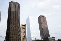 Photo of tall buildings from South Loop in Chicago Stock Photos