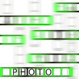 Photo tape. Photo tape with blurry effect Royalty Free Stock Image