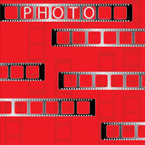 Photo tape. Vector. Photo tape. With additional vector format Stock Photography