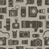 Photo technics seamless background Royalty Free Stock Photo