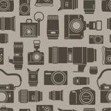 Photo technics seamless background. Modern and retro photo technics seamless background Royalty Free Stock Photo