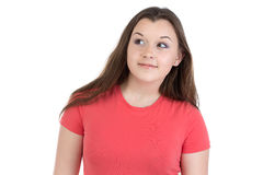 Photo of teenage girl looking up Royalty Free Stock Images