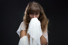 Photo of teenage girl in shyness Royalty Free Stock Photos