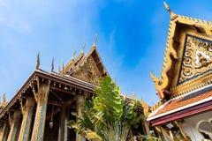 Photo of temple at Wat Phra Keaw, the emerald Buddha, Bangkok royalty free stock images