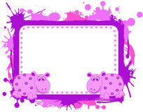 Photo and text frame. A illustration of photo and text frame royalty free illustration