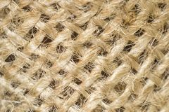 Photo texture of burlap light color made from natural linen material Royalty Free Stock Image