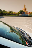 Photo of thailand. Reflection on car Royalty Free Stock Photography