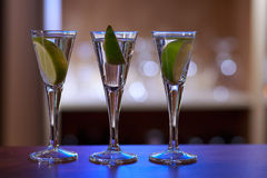 Photo of three drinks Stock Photography