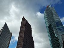 Three high towers in Berlin stock photography