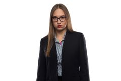 Photo of tired unhappy business woman Royalty Free Stock Images