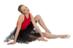 Photo of tired young ballerina Royalty Free Stock Photos
