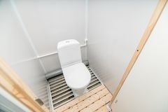 Photo of the toilet room stock photography