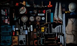 Free Photo Top View A Huge Set Collection Of Working Hand And Power Tools Many For The Wooden On Isolated Black Background Stock Photography - 178961122