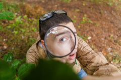 Photo on top of young ecologist Stock Photo