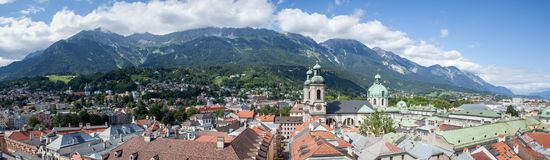 Photo of Town over Viewing Mountains during Daytime Royalty Free Stock Photography