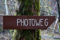 Photo trail signboard Stock Image