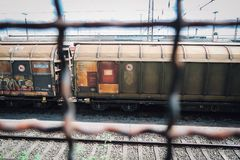 Photo of Train From the Fence Royalty Free Stock Photography