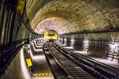 Photo of Train Track Subway Stock Photography