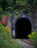 Photo of Train Tunnel during Daytime Stock Image
