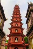 Tran Quoc pagoda in Hanoi Vietnam royalty free stock images