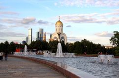 Church of St. George the Victorious on Poklonnaya Hill. Stock Photography