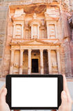 Photo of Treasury Monument in antique city Petra Stock Photography