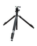 Photo tripod with ball head on white background Stock Images