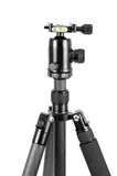 Photo tripod with ball head on white background Royalty Free Stock Image