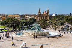 Triton Fountain, Valletta. Photo of Triton Fountain in Valletta, Malta Stock Photography